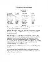 2011-10-06 ACEA Board of Directors Minutes