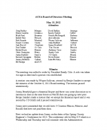 2012-05-15 ACEA Board of Directors Minutes