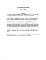 2012-05-16 ACEA Membership Meeting Minutes