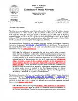 AL Bid Law and Public Works – Revision Memo