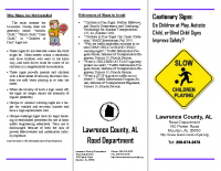Brochure-Children at Play Signs