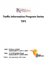 Traffic Engineering Quesitons Answered Florida ITE