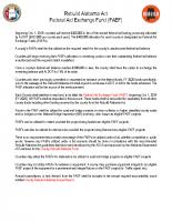 15 Rebuild Alabama Act Federal Aid Exchange Fund (FAEF)