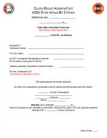 11 ACEA Model Annual Bid Contract