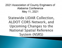 Update on Statewide LiDAR Project